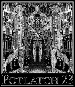 Potlatch 23 T-shirt Design by Freddie Baer
